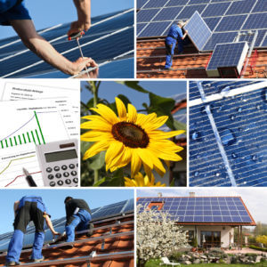 Collage, solar offer and installation